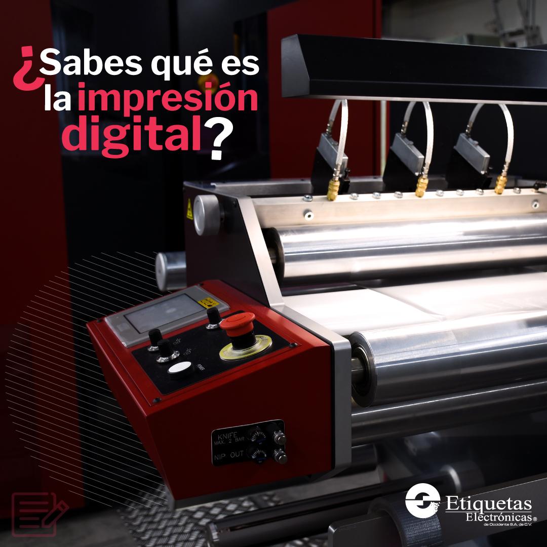 ¿Conoces qué es la impresión digital?